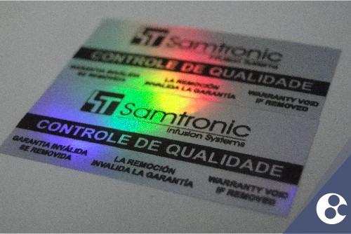Etiquetas adesivas holográficas