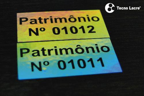 Etiqueta para Patrimônio