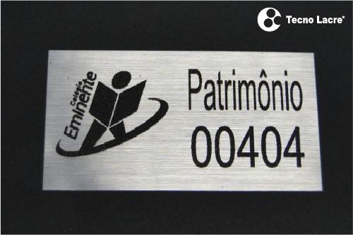 Etiqueta patrimônio policarbonato