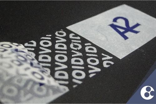 Selo de garantia personalizado