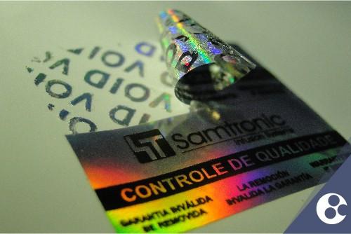 Selos holográficos personalizados