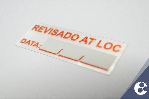 Etiqueta de Calibração