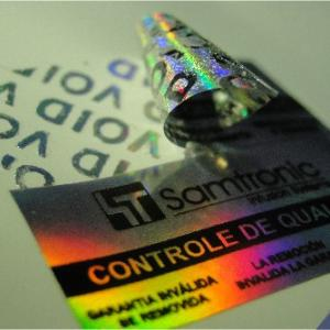 Selo holográfico autenticidade